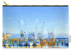 Colorful Shrimp Boat Harbor Pass Christian Ms Carry-all Pouch