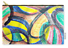 Carry-all Pouch featuring the mixed media Colorful Soul by Lucia Sirna