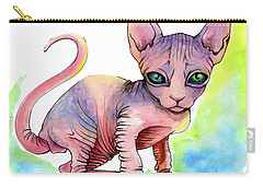 Colorful Sphynx Carry-all Pouch