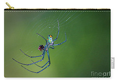 Colorful Spider In Web Carry-all Pouch