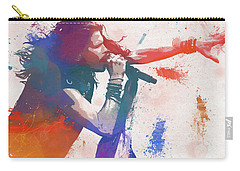 Colorful Steven Tyler Paint Splatter Carry-all Pouch