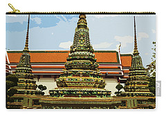 Colorful Stupas At Wat Pho Carry-all Pouch
