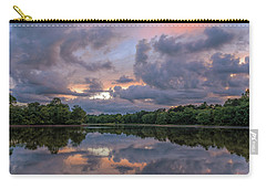 Carry-all Pouch featuring the photograph Colorful Sunset At The Lake by Lori Coleman