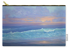 Cape Cod Colorful Sunset Seascape Beach Painting With Wave Carry-all Pouch