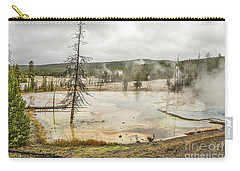 Carry-all Pouch featuring the photograph Colorful Thermal Pool by Sue Smith