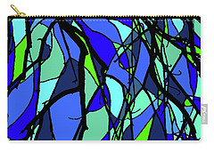 Colorful Tree Abstract Blue Carry-all Pouch