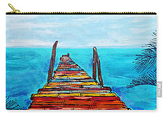 Colorful Tropical Pier Carry-all Pouch