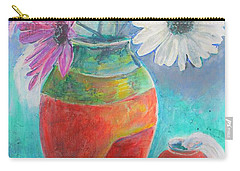 Colorful Vases And Flowers Carry-all Pouch