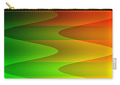 Carry-all Pouch featuring the digital art Colorful Waves by Kathleen Sartoris