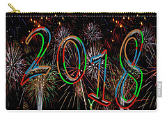 Colorful Year 2018 Fireworks Happy New Year Carry-all Pouch