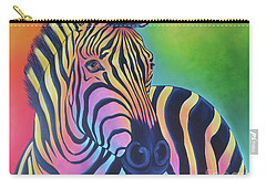 Colorful Zebra Carry-all Pouch
