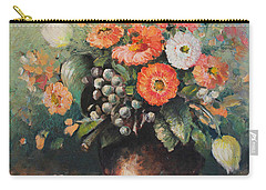 Coloroful Zinnias Bouqet Carry-all Pouch