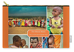 Colors And Smiles Of The Masai Carry-all Pouch