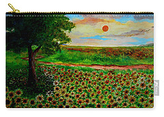 Sunflowers In Sunset Carry-all Pouch