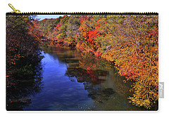 Colors Of Nature - Fall River Reflections 001 Carry-all Pouch by George Bostian