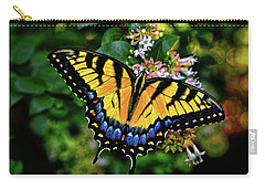 Carry-all Pouch featuring the photograph Colors Of Nature - Swallowtail Butterfly 003 by George Bostian