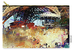 Colors Of Paris In The Summer Carry-all Pouch by John Rivera