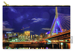 Carry-all Pouch featuring the photograph Colors Of The Zakim Bridge - Boston, Ma by Joann Vitali