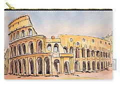 Carry-all Pouch featuring the painting Colosseum by Marilyn Zalatan