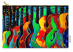Carry-all Pouch featuring the digital art Colour Of Music by Pennie McCracken