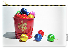 Coloured Baubles In A Pot Carry-all Pouch