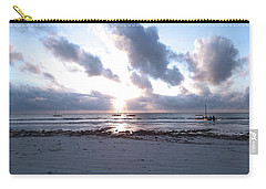 Coloured Sky - Sun Rays And Wooden Dhows Carry-all Pouch