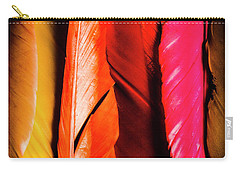 Colourful Feather Art Carry-all Pouch