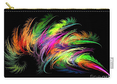 Colourful Feather Carry-all Pouch