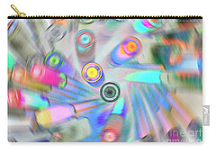 Carry-all Pouch featuring the digital art Colourful Pens by Wendy Wilton