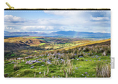 Carry-all Pouch featuring the photograph Colourful Undulating Irish Landscape In Kerry  by Semmick Photo