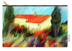 Carry-all Pouch featuring the painting Colours Of The Wind by Valerie Anne Kelly