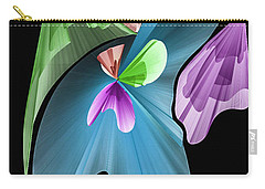 Carry-all Pouch featuring the photograph Colours On Black #g2 by Leif Sohlman
