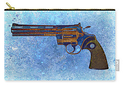Colt Python 357 Mag On Blue Background. Carry-all Pouch