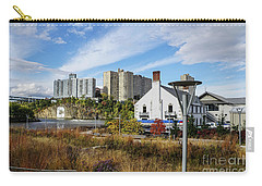 Carry-all Pouch featuring the photograph Columbia Boathouse And C Rock by Cole Thompson