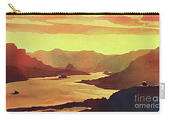 Carry-all Pouch featuring the painting Columbia Gorge Scenery by Ryan Fox