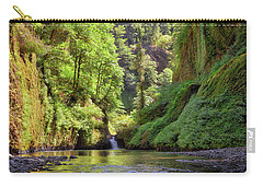 Columbia Gorge Waterfall In Summer Carry-all Pouch