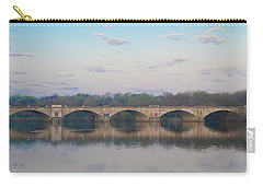 Carry-all Pouch featuring the photograph Columbia Railroad Bridge - Philadelphia by Bill Cannon