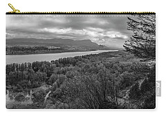 Columbia River Gorge Black And White  Carry-all Pouch