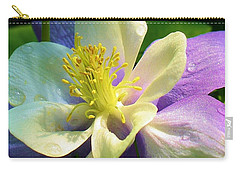 Columbine Close Up Carry-all Pouch by Bruce Bley