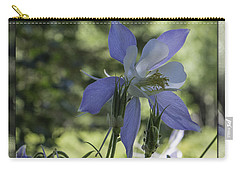 Columbine With Styalized Border Carry-all Pouch by Chris Thomas