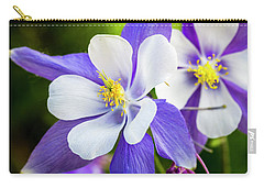Columbines Inside Carry-all Pouch by Teri Virbickis