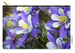Columbines Carry-all Pouch by Teri Virbickis