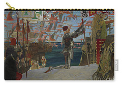 Columbus In The New World Carry-all Pouch by Edwin Austin Abbey