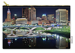 Columbus Over The Scioto Carry-all Pouch by Frozen in Time Fine Art Photography