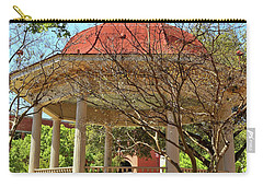 Comal County Gazebo In Main Plaza Carry-all Pouch by Judy Vincent