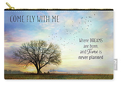 Carry-all Pouch featuring the photograph Come Fly With Me by Lori Deiter