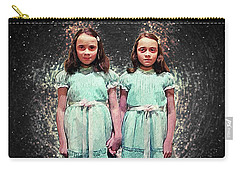 Carry-all Pouch featuring the digital art Come Play With Us - The Shining Twins by Taylan Apukovska