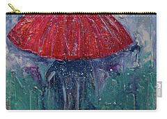 Carry-all Pouch featuring the painting Come Rain Or Snow by John Stuart Webbstock