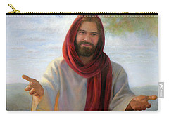 Carry-all Pouch featuring the painting Come Unto Me Full-length by Nancy Lee Moran