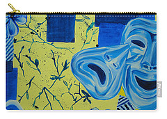 Carry-all Pouch featuring the painting Comedy Or Tragedy by Maria Langgle
